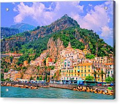 Harbor At Amalfi Acrylic Print
