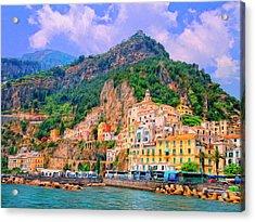 Harbor At Amalfi Acrylic Print