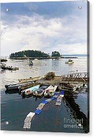 Harbor At Georgetown Five Islands, Georgetown, Maine #60550 Acrylic Print