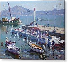 Harbor At Oropos Athens Acrylic Print