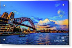 Acrylic Print featuring the photograph Harbor Bridge by Perry Webster