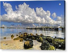 Harbor Clouds At Boynton Beach Inlet Acrylic Print by Debra and Dave Vanderlaan