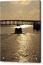 Harbor Departure Acrylic Print by James Granberry