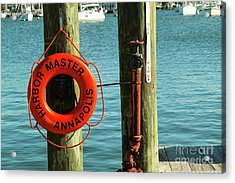 Harbor Life Preserver Acrylic Print