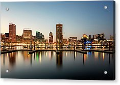 Acrylic Print featuring the photograph Harbor Lights by Ryan Wyckoff