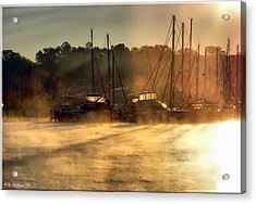 Acrylic Print featuring the photograph Harbor Mist by Brian Wallace