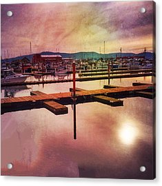 Acrylic Print featuring the photograph Harbor Mood by Chriss Pagani