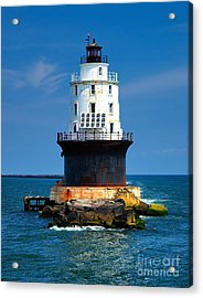 Harbor Of Refuge Lighthouse Acrylic Print