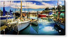 Acrylic Print featuring the photograph Harbor On Guemes Channel by TL  Mair