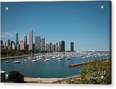 Harbor Parking In Chicago Acrylic Print