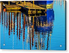 Harbor Reflections Acrylic Print by Garry Gay