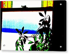 Harbor Side Window Acrylic Print