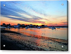 Harbor Sunset At Low Tide Acrylic Print