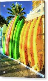 Acrylic Print featuring the photograph Harbor Walk At Destin Florida # 7 by Mel Steinhauer