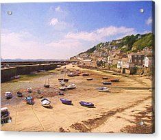 Harbour At Low Tide - Mousehole Acrylic Print