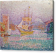 Harbour At Marseilles Acrylic Print by Paul Signac