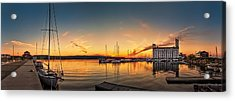 Harbour At Sunset Acrylic Print by Jeff S PhotoArt