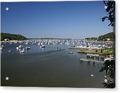 Harbour Acrylic Print by Dennis Curry