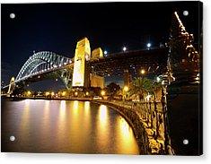 Harbour Fence Acrylic Print