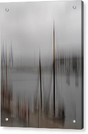 Harbour In The Fog Acrylic Print