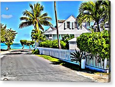 Harbour Island Street Acrylic Print by Anthony C Chen