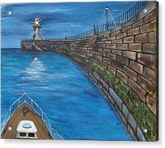 Harbour Light Acrylic Print by Carol Williams