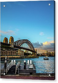 Acrylic Print featuring the photograph Harbour Sky by Perry Webster