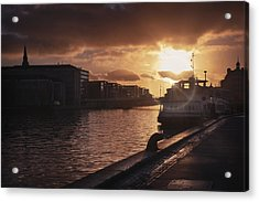 Harbour Sunset Copenhagen Acrylic Print by Carol Japp