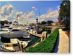 Harbour Town Marina Sea Pines Resort Hilton Head Sc Acrylic Print