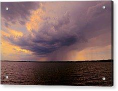 Hard Rain's Gonna Fall Acrylic Print by Lowlight Images