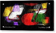 Hard Rock Abstract Titled Acrylic Print by Terry Mulligan