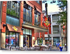 Hard Rock Cafe Denver Acrylic Print by Laurie Prentice