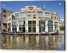 Hard Rock Cafe In Amsterdam Acrylic Print by Andre Goncalves