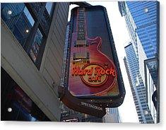 Hard Rock Cafe N Y C Acrylic Print by Rob Hans