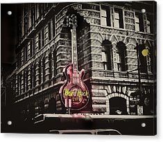 Hard Rock Philly Acrylic Print by Bill Cannon