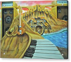 Acrylic Print featuring the painting Hard Rock by Thomas J Herring