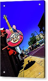 Hard Rockin On Beale Acrylic Print