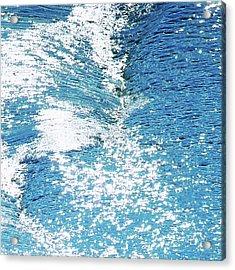 Acrylic Print featuring the digital art Hard Water Abstract by Menega Sabidussi