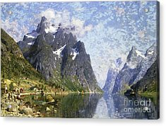 Hardanger Fjord, Norway Acrylic Print by Adelsteen Normann