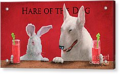 Hare Of The Dog...the Bull Terrier.. Acrylic Print