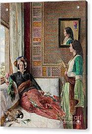 Harem Life  Constantinople Acrylic Print by John Frederick Lewis