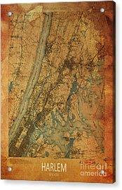 Harlem, New York, 1900 Map Acrylic Print by Pablo Franchi