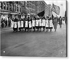 Harlem Protests The Scottsboro Verdict Acrylic Print