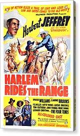 Harlem Rides The Range 1939 Acrylic Print by Mountain Dreams