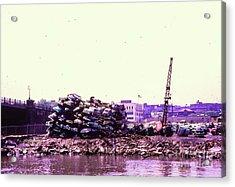 Harlem River Junkyard Acrylic Print
