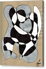 Harlequin Abtracted Acrylic Print