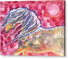Harlequin Horse Acrylic Print by Linda Kay Thomas