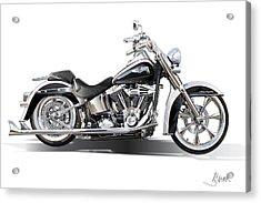 Harley Bike Acrylic Print by Alain Jamar