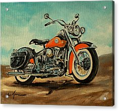 Harley Davidson 1956 Flh Acrylic Print