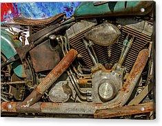 Harley Davidson - An American Icon Acrylic Print by Bill Gallagher